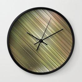 Golden Stripes Wall Clock