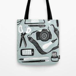 Creative tools - linocut illustration materials Tote Bag