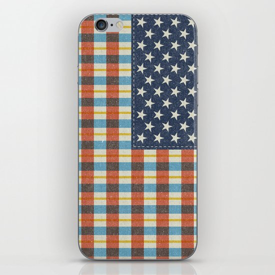 Plaid Flag. iPhone & iPod Skin