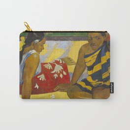 Parau Api / What's news? by Paul Gauguin Carry-All Pouch