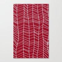 herringbone Canvas Prints featuring Herringbone  by Rachelmel1