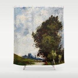 Small floodplain by Jules Dupré Shower Curtain