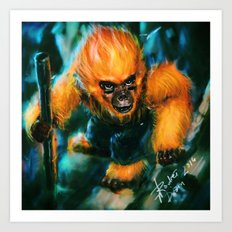 Year of the Fire Monkey Art Print
