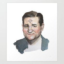 Ted Cruz is the Zodiac Killer. Art Print