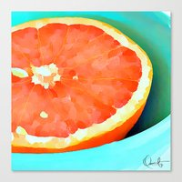 aelwen Canvas Prints featuring Grapefast by Xchange Art Studio