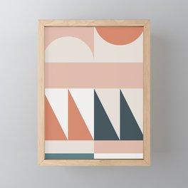 Cirque 04 Abstract Geometric Framed Mini Art Print