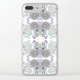 Space Doodles Pattern Clear iPhone Case