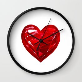 Garnet Heart Wall Clock