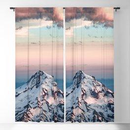 Mountain Sunset - Nature Photography Blackout Curtain
