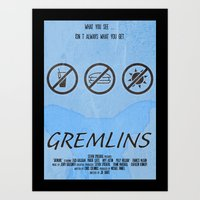 gremlins Art Prints featuring GREMLINS by Vloh