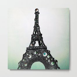 Eyeful Tower Color Metal Print