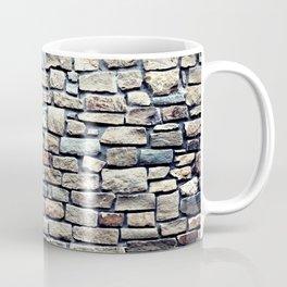 Grey tiles brick wall Coffee Mug