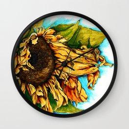 Sunflower in Summer Wall Clock