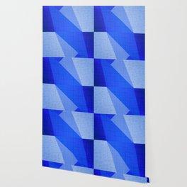 Lapis Lazuli Shapes - Cobalt Blue Abstract Wallpaper