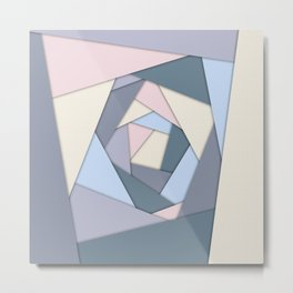 Geometric Layers of Color Metal Print