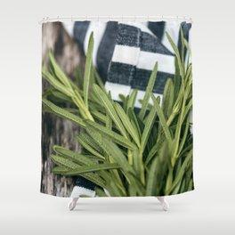 Rosemary Stripe Shower Curtain