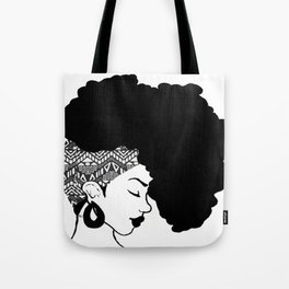 Fro African W&B Tote Bag
