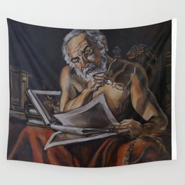 Pensive Lately Wall Tapestry