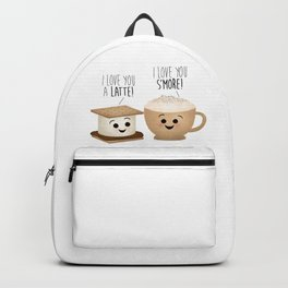I Love You A Latte! I Love You S'more! Backpack