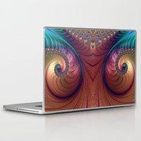twin peaks Laptop & iPad Skins featuring Twin Peaks by Steve Purnell
