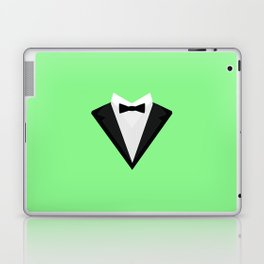 Black Tuxedo Suit with bow tie T-Shirt D946n Laptop & iPad Skin