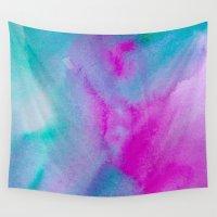 aurora Wall Tapestries featuring Aurora by elena + stephann