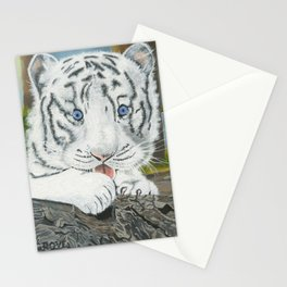 Baby White Tiger Stationery Cards