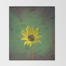 The yellow flower of my old friend Throw Blanket
