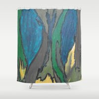 camo Shower Curtains featuring Camo by Kristin Rodgers