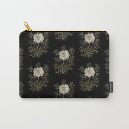 Mysterious Medieval Flower Pattern Carry-All Pouch