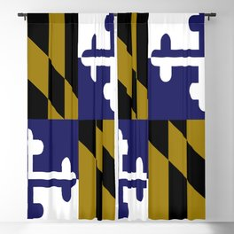 Maryland State Flag Baltimore Football Season Colors Purple Gold Blackout Curtain
