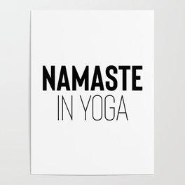 Namaste in Yoga Poster