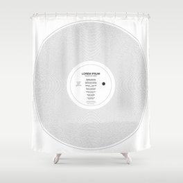 LP-IPSUM Shower Curtain