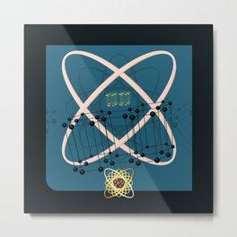 Retro Molecular Jazz Metal Print