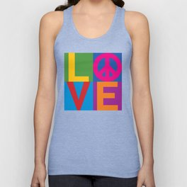 Love Peace Color Blocked Unisex Tank Top