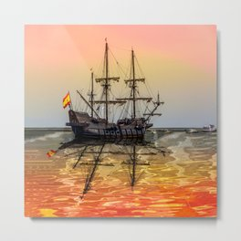 Sail Boston El Galeon Andalucia Metal Print