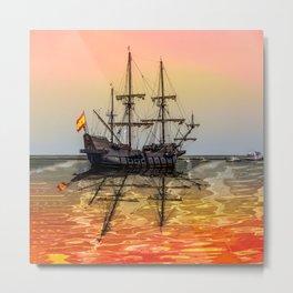 Sail Boston El Galeon Andalucia Metal Print