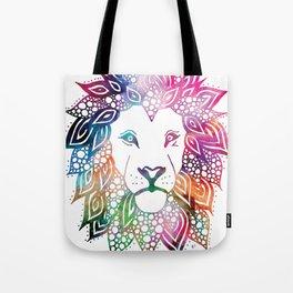 Rainbow Leo Tote Bag