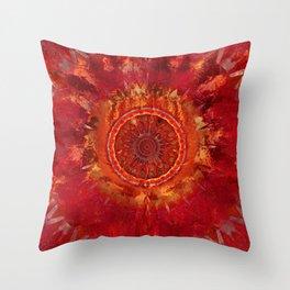 Mandala Grunge Throw Pillow