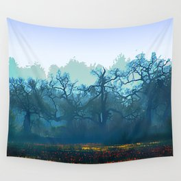 Skragley Oak Trees in the Laguna de Santa Rosa, Sonoma County, California Wall Tapestry