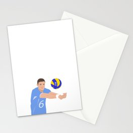 Volleyball cartoon Stationery Cards