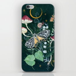 Mushroom night moth iPhone Skin