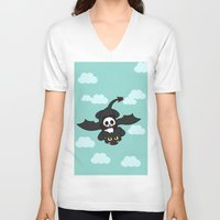 how to train your dragon V-neck T-shirts featuring How Panda Train Your Dragon by Pandakuma Store