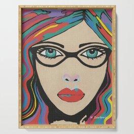 Scarlett - Contemporary Woman Art Serving Tray