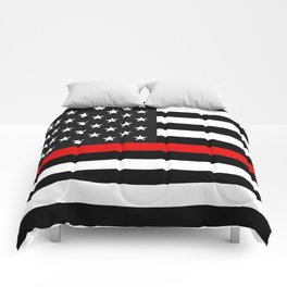Thin Red Line American Flag Comforters