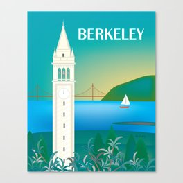Berkeley, California - Skyline Illustration by Loose Petals Canvas Print