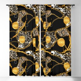 Chains-Belt and Animal Skin Blackout Curtain