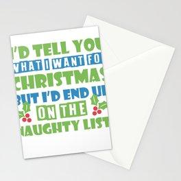 Sexy Mistletoe Christmas Single cheeky gift Stationery Cards