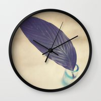 botanical Wall Clocks featuring Botanical by Jessica Torres Photography