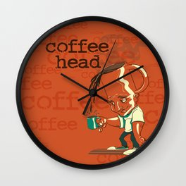 CoffeeHead Wall Clock